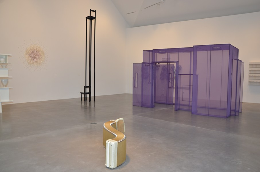"""Ruby City's """"Waking Dream"""" features works by (from back left) Teresita Fernández, Marina Abramovic, Do Ho Suh and ChristianMarclay. - BRYAN RINDFUSS"""