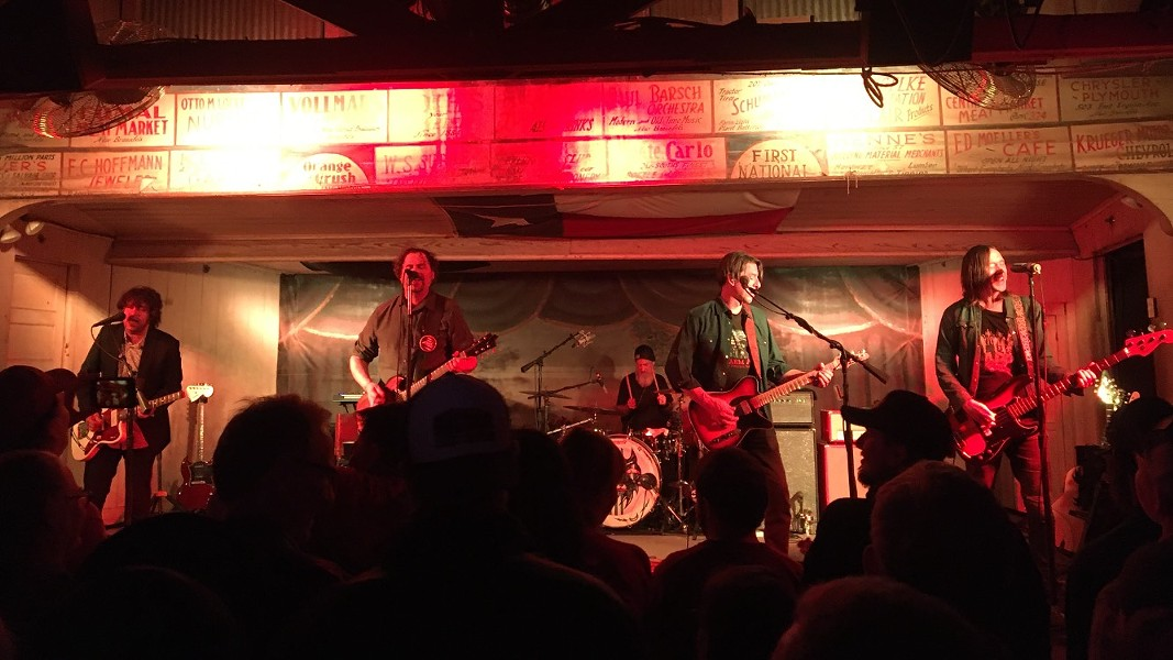 Drive-By Truckers' music often highlights the intersection of rock power chords and country twang. - MIKE MCMAHAN