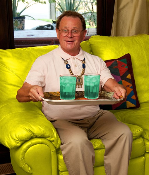 Elder on his chartreuse couch by Ansen Seale. - ANSEN SEALE