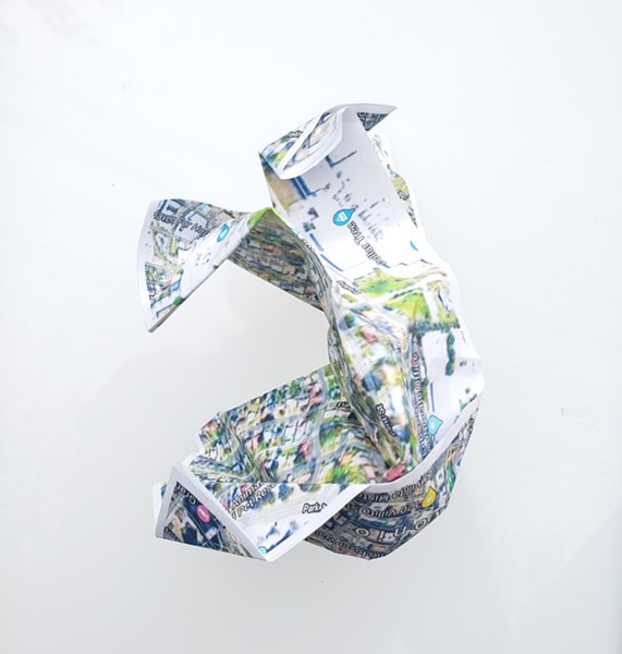 Artpace's 3D geographic. map project. - COURTESY OF ARTPACE