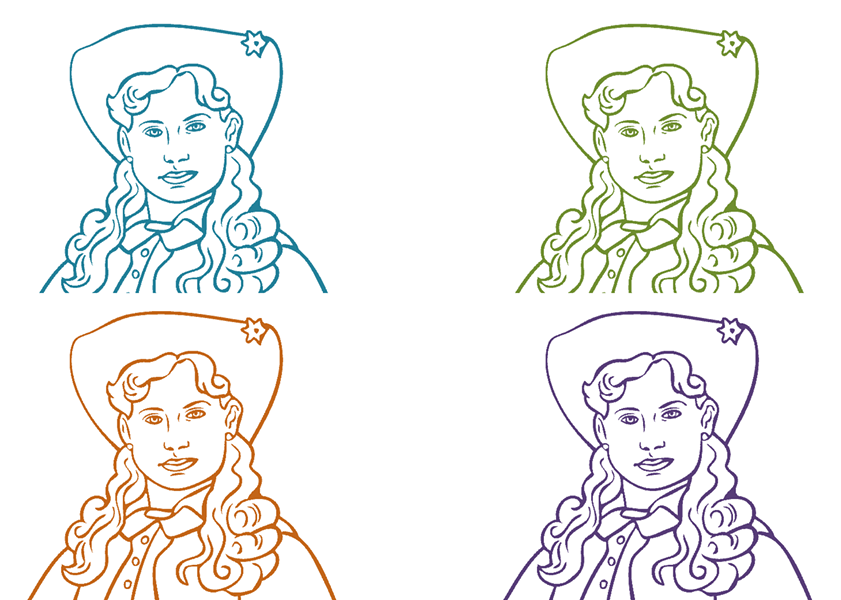 Annie Oakley coloring pages - COURTESY OF BRISCOE WESTERN ART MUSEUM