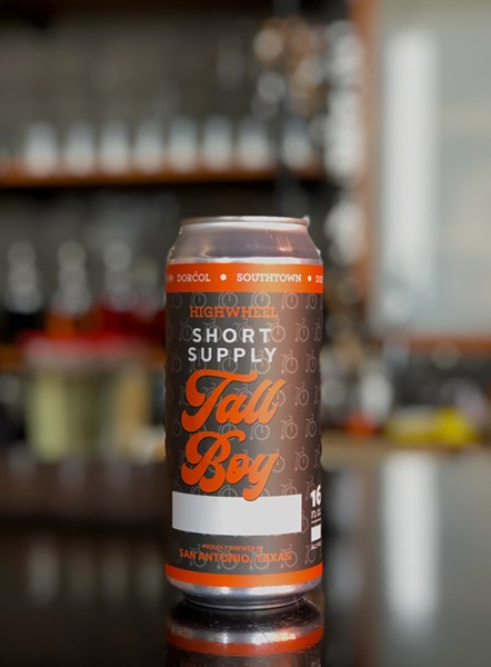 Available for pre-order today, the inaugural run of Short Supply Tall Boys will pour 16 ounces of the HighWheel Wheat-A-Colada. - COURTESY OF DORĆOL DISTILLING + BREWING
