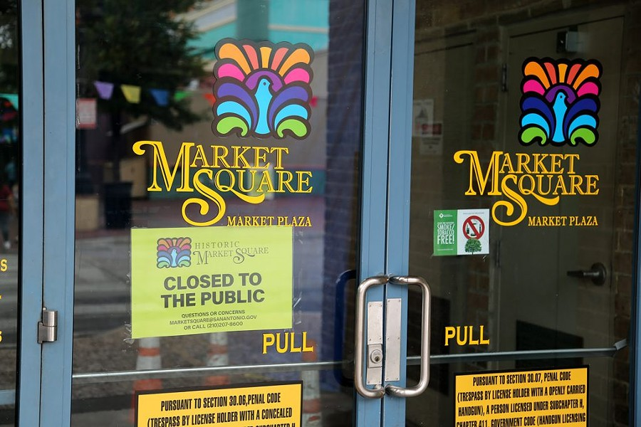 The Market Plaza at Market Square was also closed during Memorial Day.