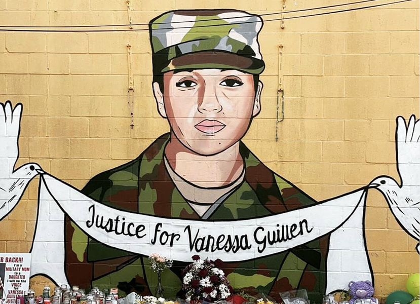 Houston artists Donkee Boy and Donkee Mom created a mural in honor of Guillen, who was confirmed dead this weekend. - INSTAGRAM / JUSTICE.FOR.VANESSA