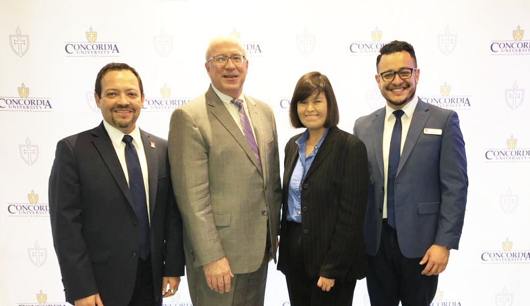 SA Native Montez (far right) has been nominated for the 2020 Coors Light Líder of the Year program. - FACEBOOK / HACU - HISPANIC ASSOCIATION OF COLLEGES AND UNIVERSITIES