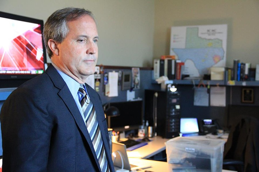 Texas AG Ken Paxton - VIA THE TEXAS ATTORNEY GENERAL'S OFFICE