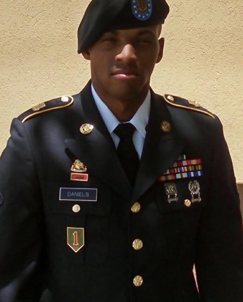 Army veteran Damian Lamar Daniels was shot and killed by a Bexar County sheriff's deputy late last month. - TWITTER / S. LEE MERRITT