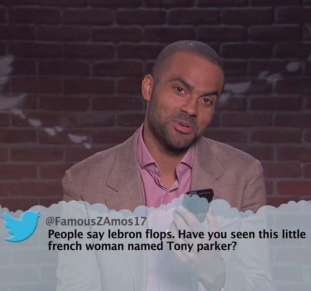 TONY PARKER ON MEAN TWEETS