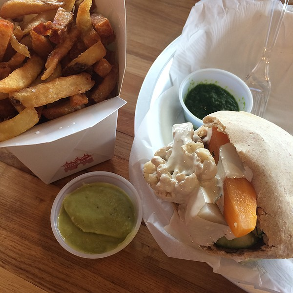 Kosher and vegan and delicious? All three at Moshe's. - JESSICA ELIZARRARAS