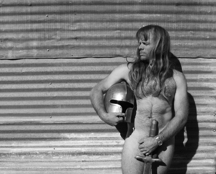Drummer Thor Harris lives in a compound in Austin. He rarely puts a shirt on. - COURTESY