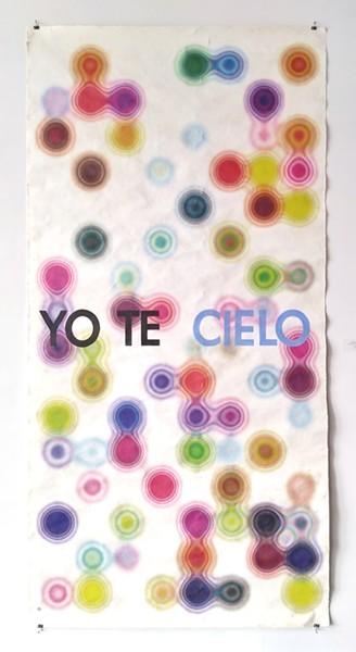 Andrés Ferrandis, Amate I (Yo Te Cielo), 2020, Archival print on handmade amate paper, 94 x 45.5 in. - ANDRÉS FERRANDIS