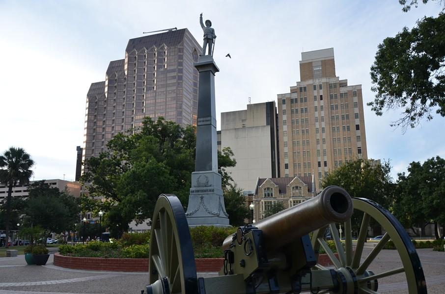 The Confederate Civil War Monument in Travis Park. - MICHAEL MARKS