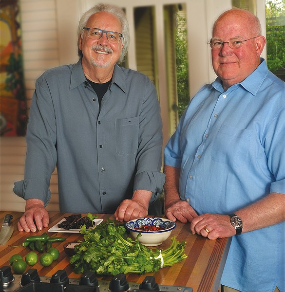Chris Waters Dunn (left) and Cappy Lawton (right), authors of Enchiladas: Aztec to Tex-Mex - GREG HARRISON