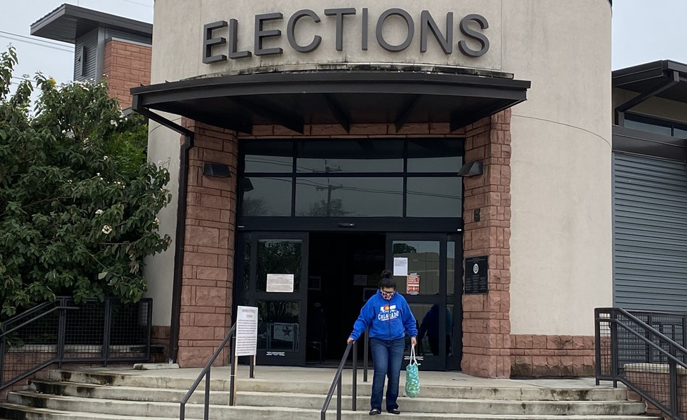 The Bexar County Elections Department office is one of just two polling sites in the county that offers a live interpreter. - SANFORD NOWLIN