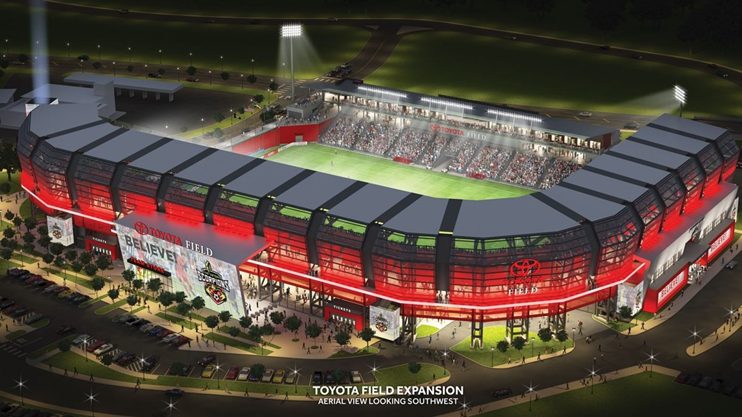 A rendering of what an expanded Toyota Field could look like. - COURTESY SAN ANTONIO SCORPIONS