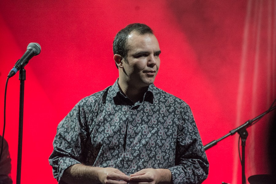 Future Islands rocking the not a rock star look - JAIME MONZON