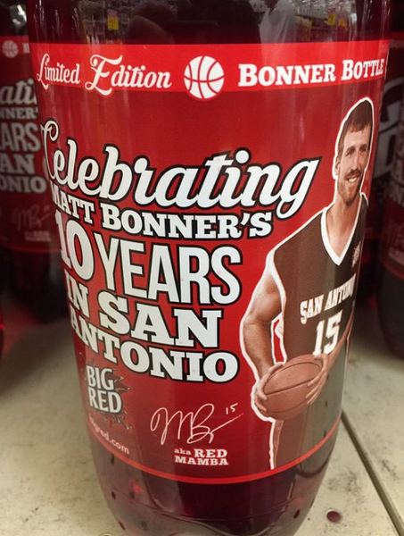 Matt Bonner now graces the cover of Big Red. - VIA TWITTER USER @THOMASSOPER53