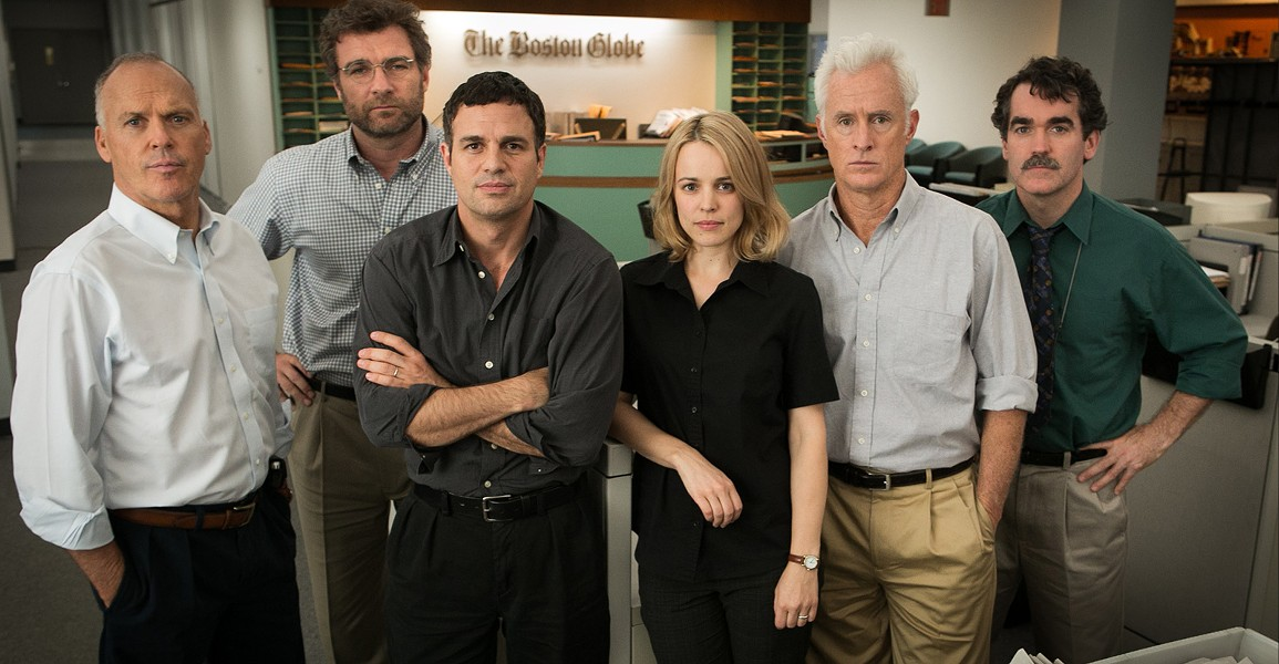 "An all-star cast plays the ""Spotlight"" team. - COURTESY"