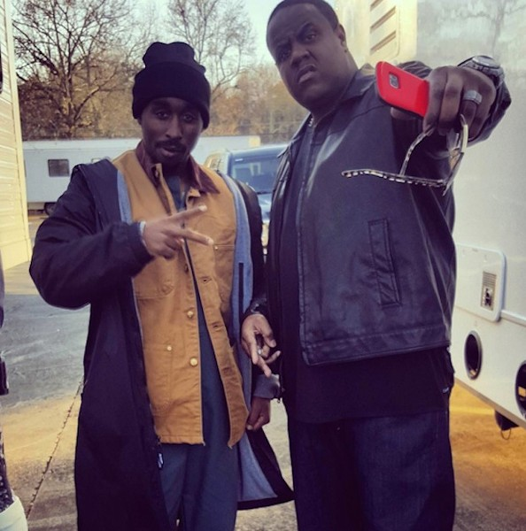 Shipp and Woolard as the late, iconic rappers - VIA INSTAGRAM