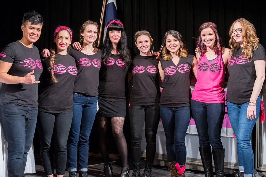 Madelyn Kay, second from left, won Speed Rack Texas on Tuesday, January 12. You can still help send a San Antonian to NYC. - SPEEDRACK/FACEBOOK