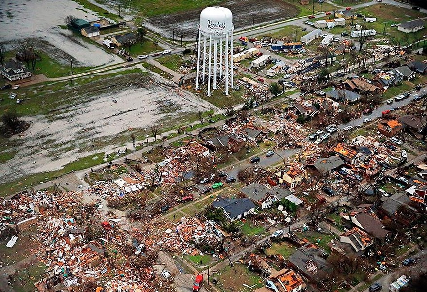 On December 26, 2015, an EF4 tornado ripped through Rowlett, Texas, impacting 1,145 homes, injuring 23 and knocking out power to approximately 6,000 homes and businesses. There were no fatalities. - CITY OF ROWLETT