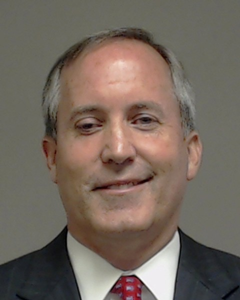 Texas Attorney General Ken Paxton's mugshot from Collin County, where he was indicted on two felony charges of securities fraud. - COLLIN COUNTY