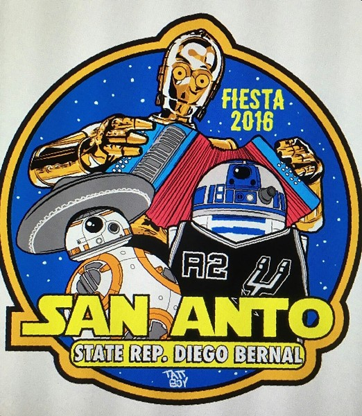 The design for State Rep. Diego Bernal's Fiesta Medal. - FACEBOOK/RAY 'TATTOEDBOY' SCARBOROUGH/STATE REP. DIEGO BERNAL