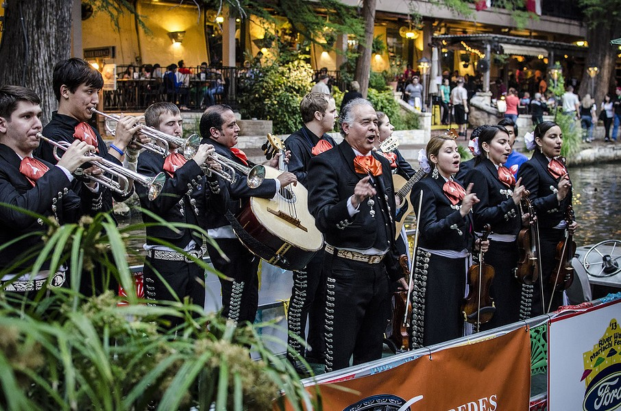 Mariachi band on the Riverwalk - CHRIS EDLEY