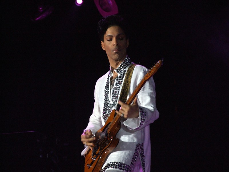 Prince performing at Coachella. - WIKIPEDIA