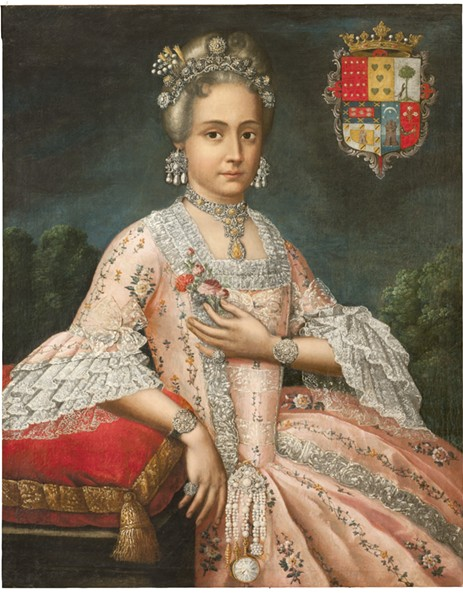 ATTRIBUTED TO CRISTÓBAL LOZANO (PERUVIAN, 1705-1776), ROSA DE SALAZAR Y GABIÑO, COUNTESS OF MONTEBLANCO AND MONTEMAR, 1764-1771