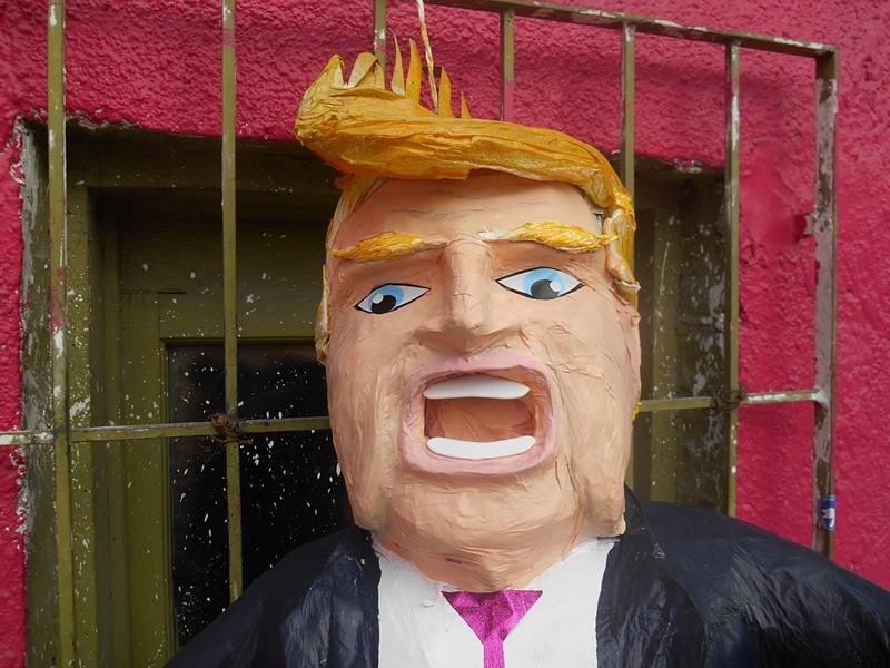 An original Trump pinata from Pinateria Ramirez. - PINATERIA RAMIREZ/FACEBOOK