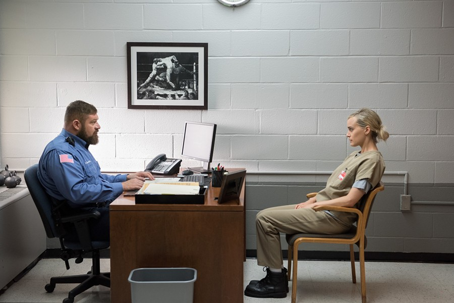 Piper wields her white privilege with Capt. Piscatella. - COURTESY OF NETFLIX