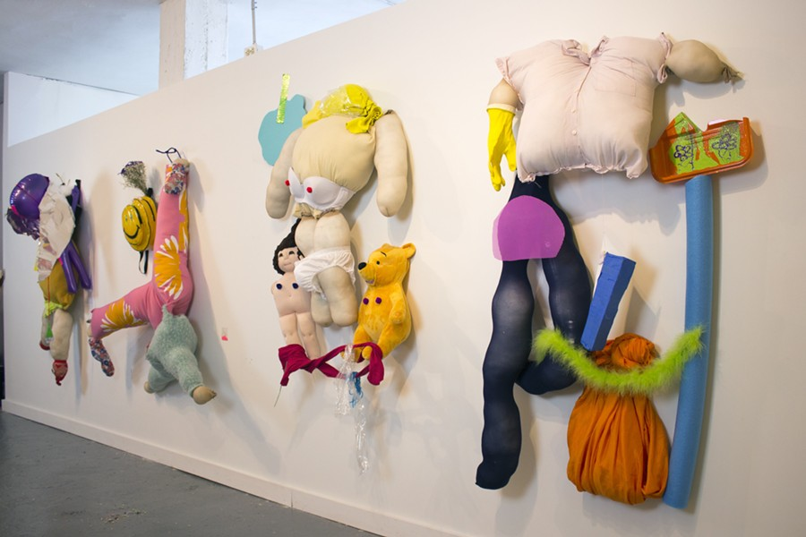 "AN INSTALLATION VIEW OF MEGAN SOLIS' SOLO SHOW ""CHRISTINA IS A COWARD"""