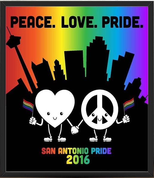 PRIDE BIGGER THAN TEXAS 2016 POSTER DESIGN BY IAN WARDZINSKI
