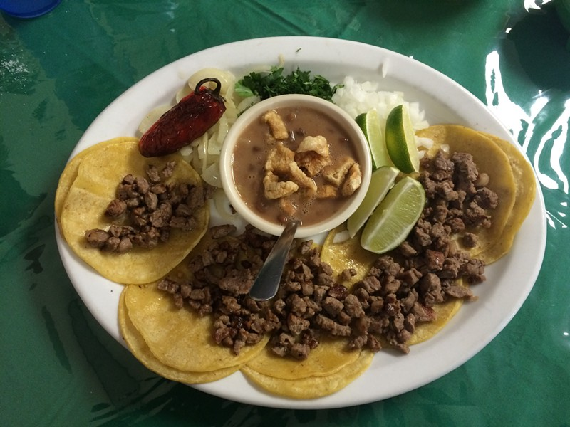 The Mini Tacos at Dos Meños Tacos