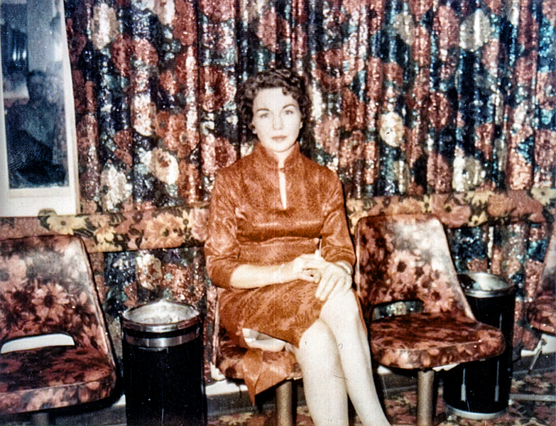 EDNA MILTON IN THE PARLOR OF THE CHICKEN RANCH (PHOTO COURTESY EDNA MILTON CHADWELL)