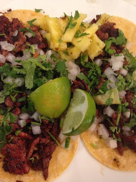 Trompo tacos from Marioli - CHARLIE SMITH