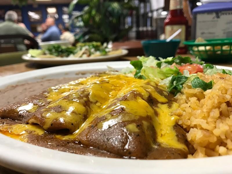 The enchilada plate ($5.99)