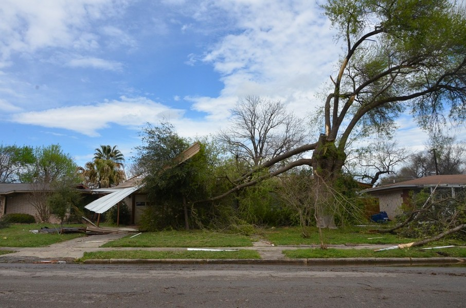 Homes on Linda Drive sustained major damage during the storm - ALEX ZIELINSKI