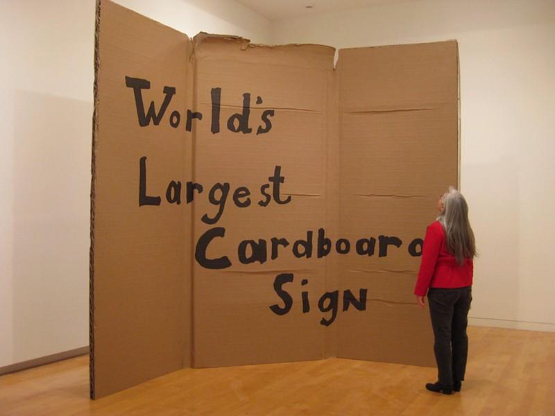 ALEJANDRO DIAZ, WORLD'S LARGEST CARDBOARD SIGN