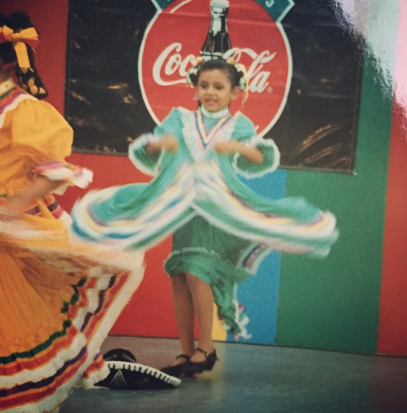Performing Ballet Folklorico in 1996
