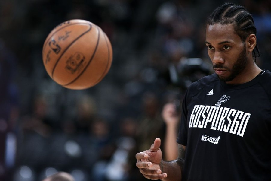 After an injury sidelined Tony Parker, the Spurs will need a healthy Kawhi Leonard to compete with the stacked Golden State roster. - JOSH HUSKIN