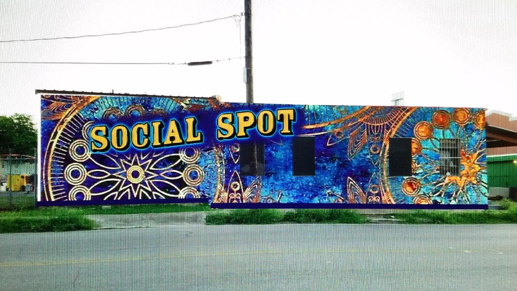 Renderings of murals coming in the future at the Social Spot. - COURTESY OF SERGIO ACOSTA