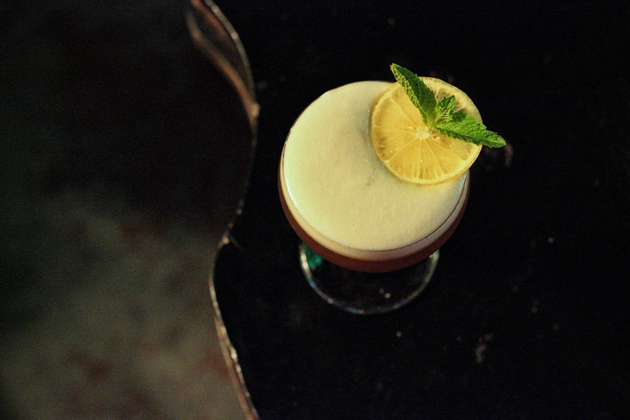 THE FERNET FLIP, ONE OF THE SIGNATURE $7.50 COCKTAILS