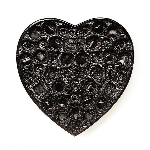CHUCK RAMIREZ, CANDY TRAY SERIES, BLACK HEART, 2008