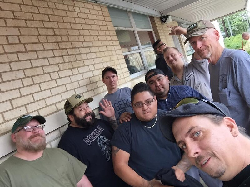 A snapshot of the guys during their trip to Victoria for Hurricane Harvey relief. - COURTESY OF CHEF COOPERATIVES