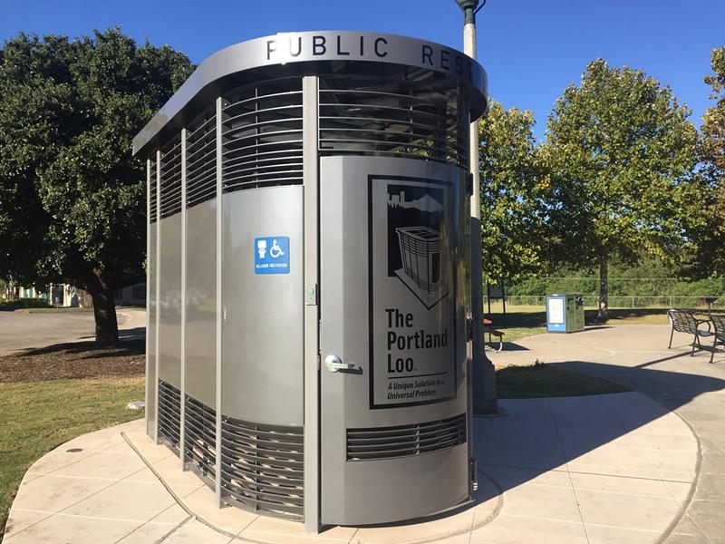 Lion Field's shiny new Portland Loo - ALEX ZIELINSKI