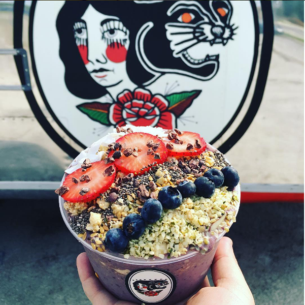 An acai bowl from Rise Up -  INSTAGRAM/RISEUPSATX