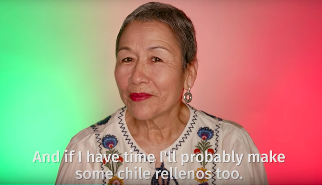 TJH's mother-in-law Teresa, subtitled while speaking in very understandable English. - YOUTUBE / HANGING WITH LOS HENRYS