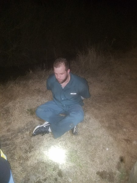Hansen, handcuffed - JEFFERSON COUNTY SHERIFF'S OFFICE-TEXAS / FACEBOOK